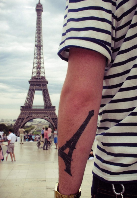 eiffel tower tattoo 2