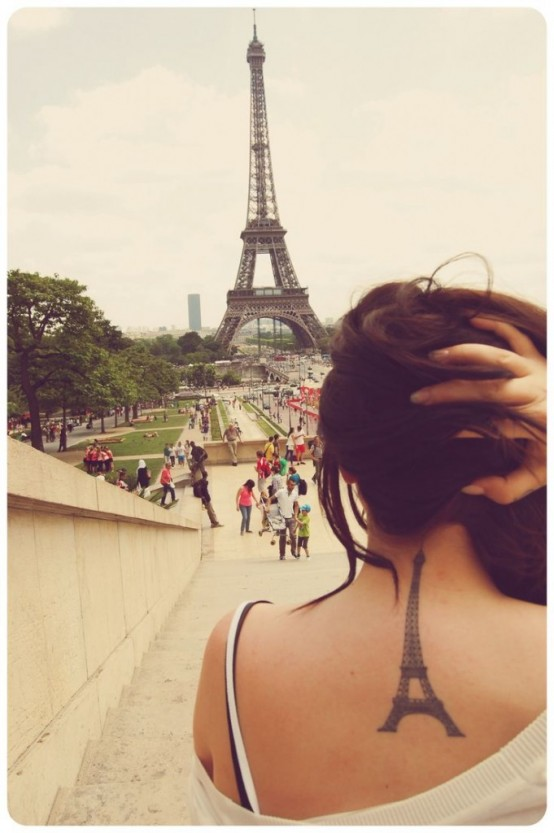 eiffel tower tattoo 3